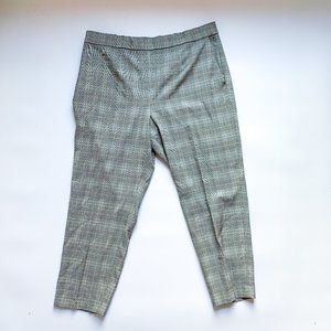 Aritzia Babaton Plaid Cropped Slim-Fit Dress Pant